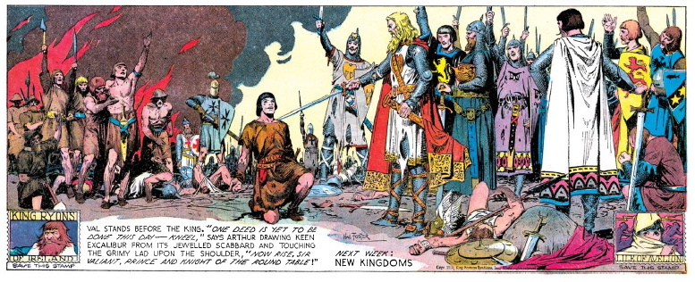 Prince Valiant is knighted panel