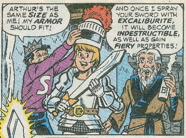 panel image of Jughead, Arthur, Merlin